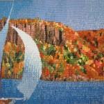 """""""Hudson Idyll: NY 30' Sailing up the Palisades"""" 2009"""