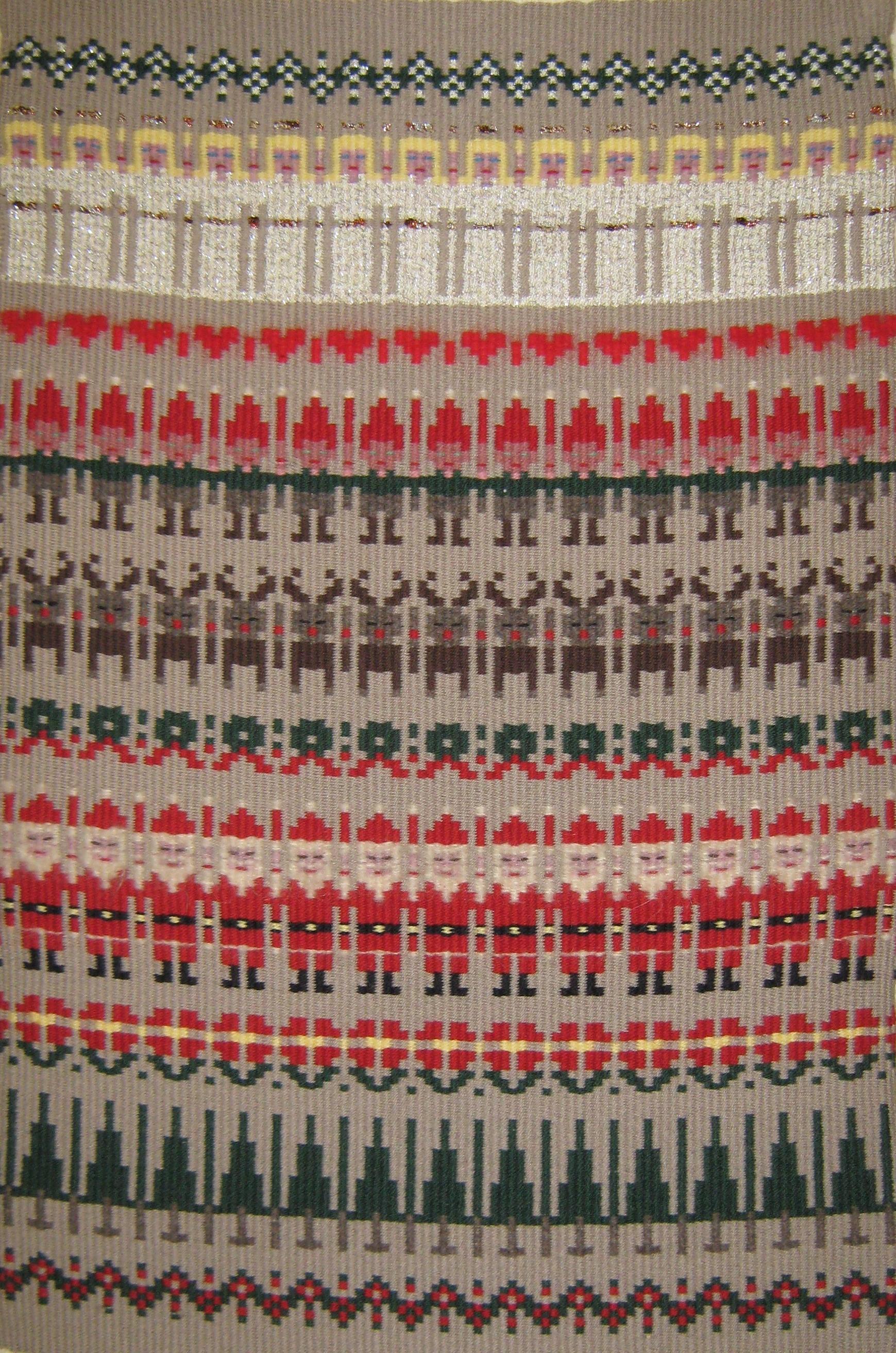 Christmas boundweave wall hanging.  19902