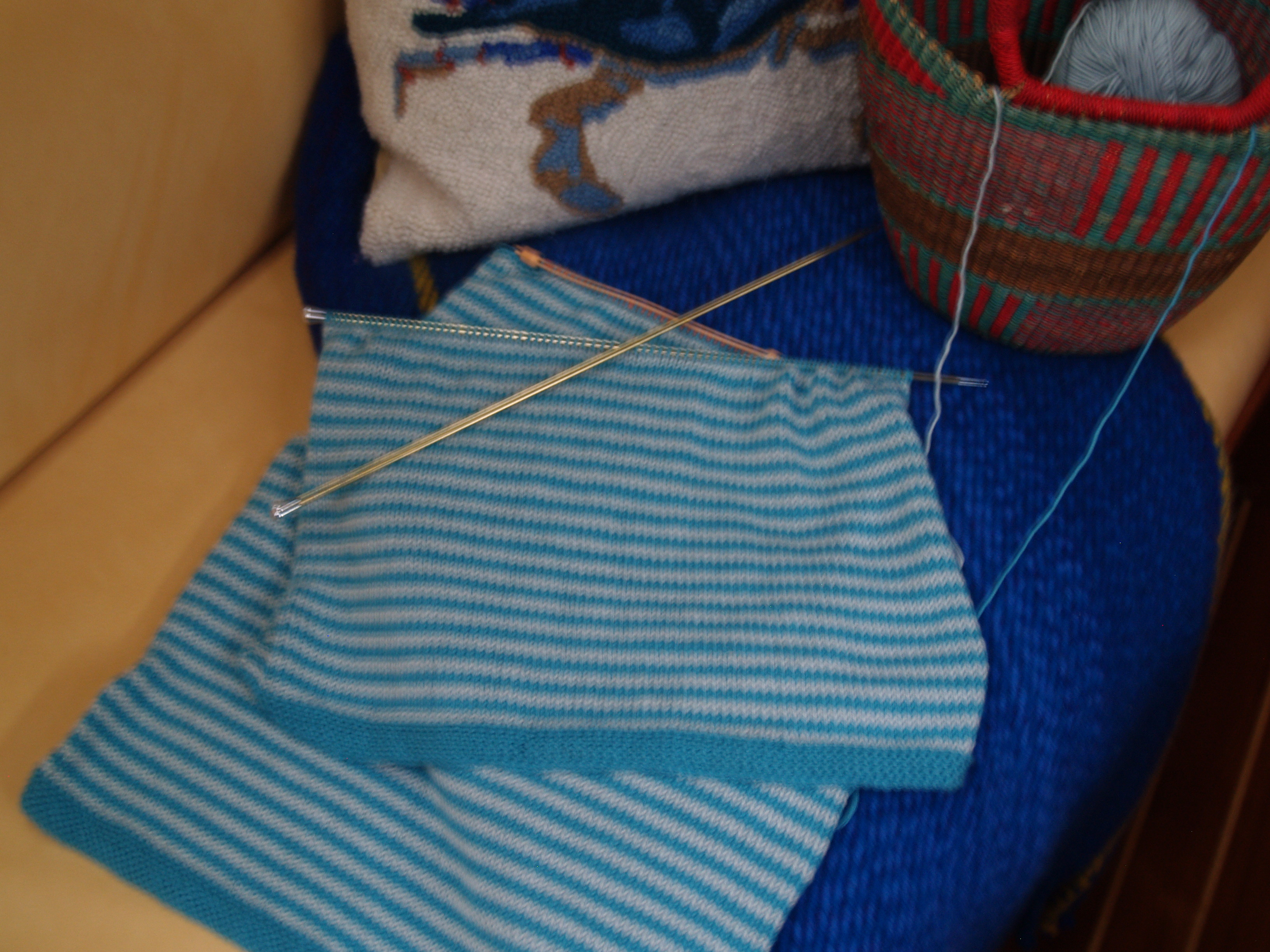 Debbie Bliss's sailor sweater in Ecobaby cotton