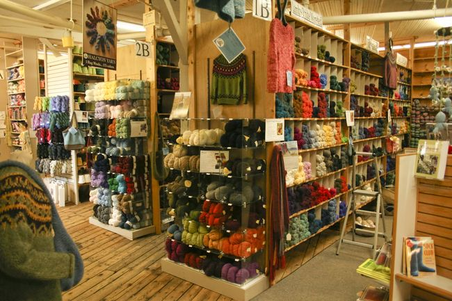 Knitting and Fabric Shops in Coastal Maine
