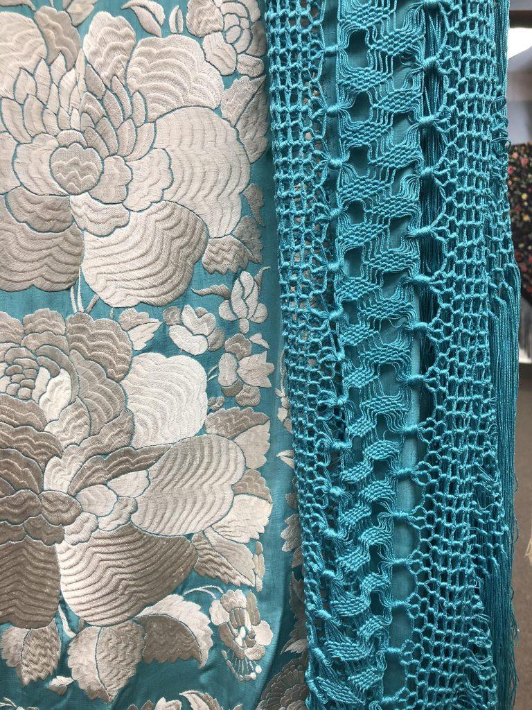 Lacis shawl with fringe